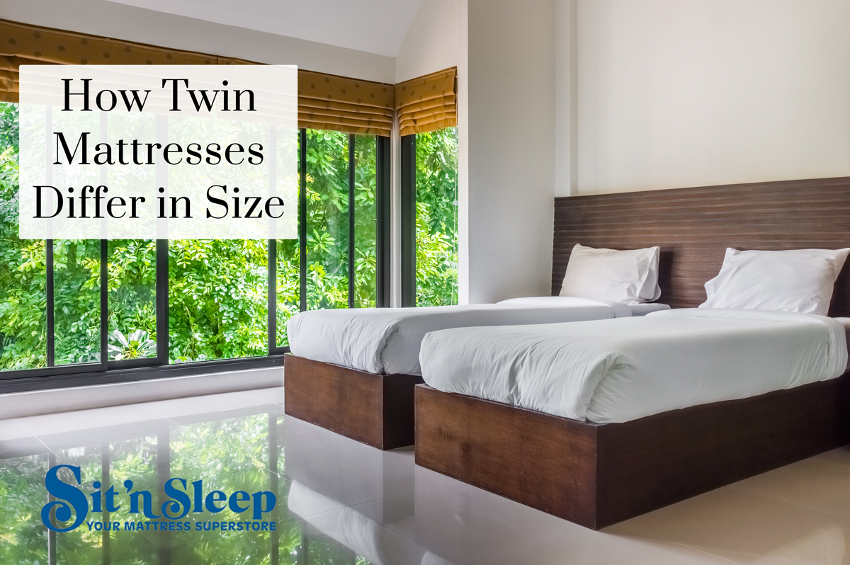 Picture of: How Twin Mattresses Differ In Size The Sit N Sleep Blogthe Sit N Sleep Blog